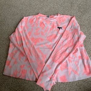 super loose and flowy tie dye love pink shirt